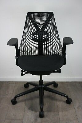 UK & EU DELIVERY | Herman Miller Sayl chairs | Lumbar Support | Immaculate Black
