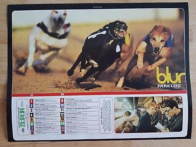 Blur magazine print ad for album parklife App 22x30cm
