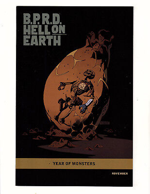 B.P.R.D Hell on Earth #101 (2012 Dark Horse) VF Year of Monsters Mignola Variant