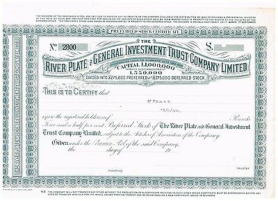 River Plate and General Investment Trust Co. Ltd., 19xx, SPECIMEN