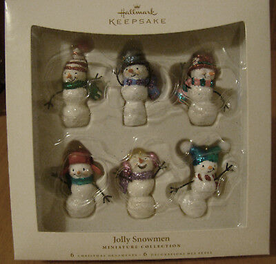 Hallmark Miniature Ornaments Jolly Snowmen 2006