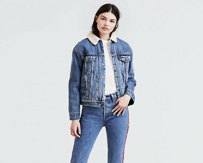 129b5f73cd GIACCA JEANS DA donna Levi's Sherpa Trucker Colore Addicted To Love - Style  3613