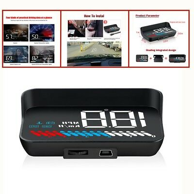 Voltage, Water temperature,OBD and GPS,Universal Car Windshield Speed Projector
