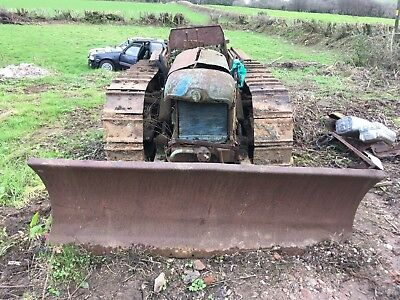 Fordson County Crawlers X2 Bulldozers County Tractor Dozer For Spares Drawbar