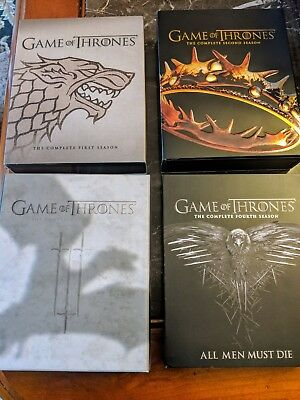 Game Of Thrones Seasons 1-4 Blu Ray, Excellent Condition