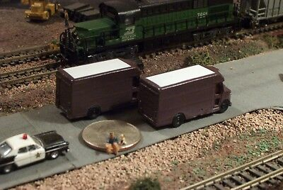 TWO Delivery Trucks N Scale Vehicles