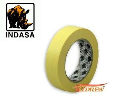 24mm / 1'' Masking Tape INDASA MTE Professional Low Bake 80C /// Sleeve 9 Rolls
