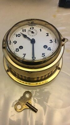 Vintage/antique Ships Bell Clock Made In West Germany Parts Or Repair!