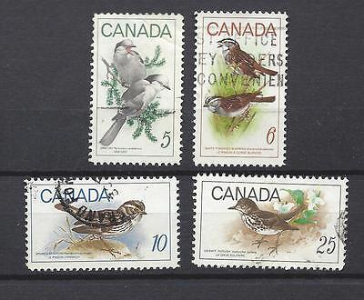 """Canada # 478 , 496-498   """" Birds  """" Set Complete used ( 478 496-498(2))"""