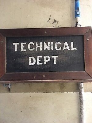 antique vintage wooden sign