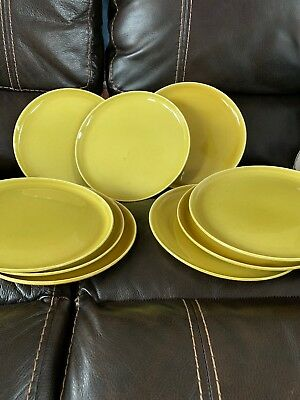 American Modern Chartruese By Steubenville Russel Wright Set Of 9 Dinner Plates