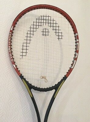 "HEAD i. RADICAL 107SQ"" OVERSIZE 18X19 GRAPHITE TENNIS RACKET AGASSI 4 3/8 NICE"