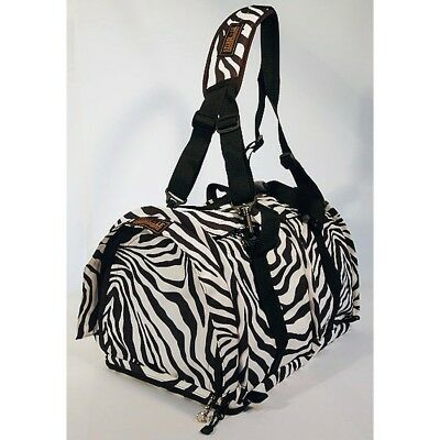 Large SturdiBag Pet Carrier in Zebra for Airplane Travel Limited Edition