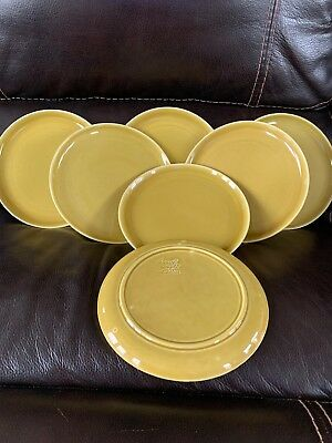 AMERICAN MODERN CHARTRUESE BY STEUBENVILLE RUSSEL WRIGHT SET OF 7 Luncheon Plate
