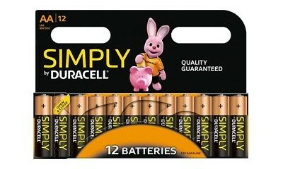 12x Duracell Simply AA Alkaline Batteries Economy Pack LR6 MN1500 Long Expiry