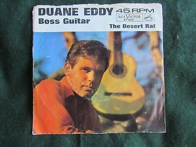 Duane Eddy Boss Guitar The Desert Rat Picture Sleeve RCA Victor 47-8131 45 rp