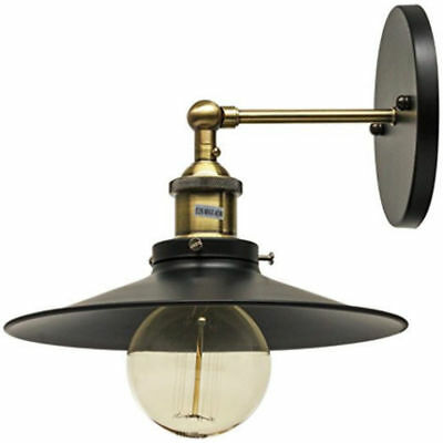 Canopy Wall Sconce Vintage Antique Style Fixture, Antique Brass Finish