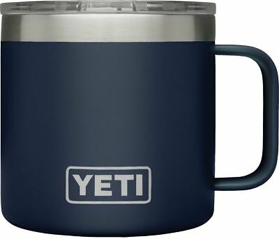 YETI Rambler 14 oz Stainless Steel Vacuum Insulated Mug Brand New - Navy