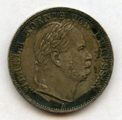 Germany Prussia 1866 King Wilhelm I Thaler 1 Year Type Nice Toned Choice Xf+Au.