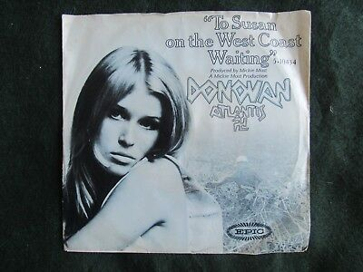 Donovan Atlantis To Susan On The West Coast Waiting picture sleeve Epic 45 rpm