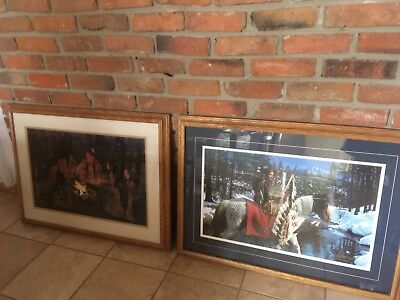 TWO RARE  Western Art Collectible, Signed & Numbered Framed Prints CRAIG TENNANT