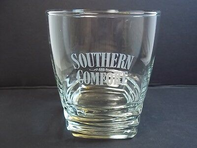 Southern Comfort tiered square base glass white logo 10 oz