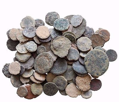 Aa Mix Lot Of 6 Ae Ancient & Roman Coins And Always Bonus Coins Added
