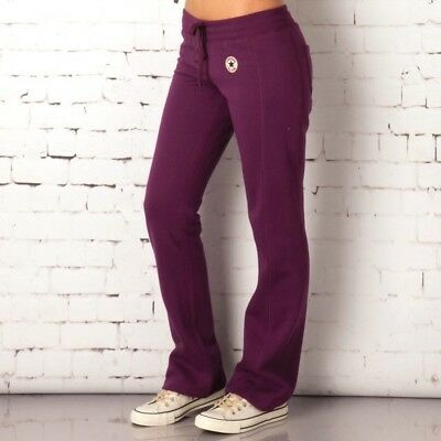 5daacbfc2b75 Women s Ladies Converse All Star Purple Sports Jogging Gym Pants Trousers