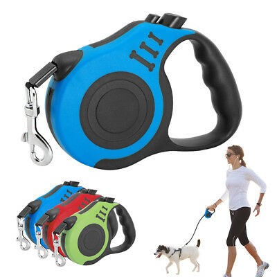 Retractable Dog Leash Tape Automatic 25KG Pet Walking Leads Small Medium 10/16ft