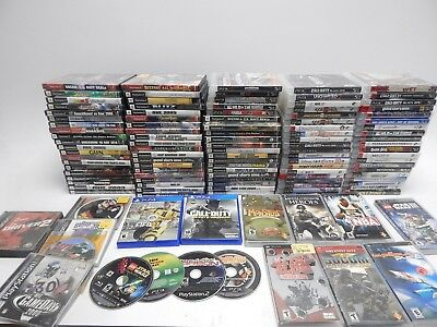 Sony PlayStation, PS2, PS3, PS4 and PSP Game Lot 100+ Games
