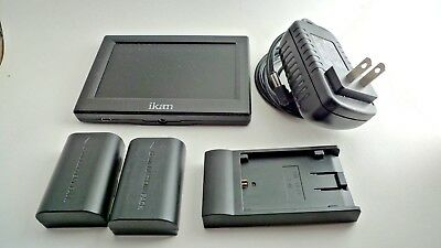 bundle ikan hdmi lcd monitor a5h-WS 2 batteries & cannon battery pack & DC power