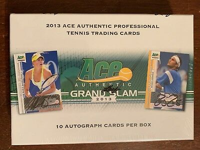 2013 Leaf Ace Authentic Grand Slam Tennis Box - Factory Sealed - 10 Autos!!!