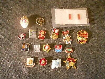Lot of (18) Russian/Soviet Union USSR Collectible Pins