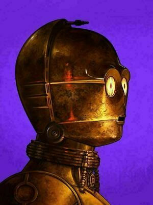 C-3PO - by Mike Mitchell - Star Wars - Mondo Poster Print XX/1140