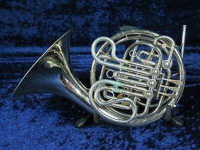 Silver Holton H177 Double French Horn Ser#639358 Plays Needs Minor Adjustments