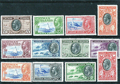 Cayman Islands 1935 Kgv Definitive Set (10)  Sg 96-107   Very Lightly Hinged