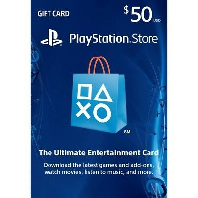 $50 USD PlayStation Network Gift Code