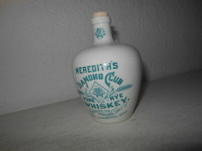 Small Meredith's Diamond Club Pure Rye Whiskey Jug