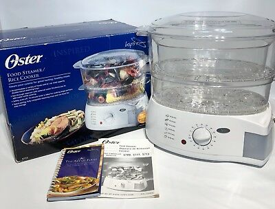 Oster 6 Quart 2 Tier Food Steamer & Rice Cooker 5713 Inspire Collection
