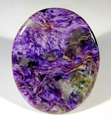 81 Ct High Quality Natural Antique Designer Charoite Oval Cabochon Gemstone B18