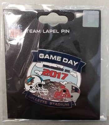 Miami Dolphins VS New England Patriots 11/2617 Game Day Pin FREE SHIPPING