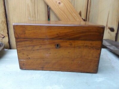 Antique Georgian ? edwardian ? Mahogany ? Two Division Tea Caddy box lined