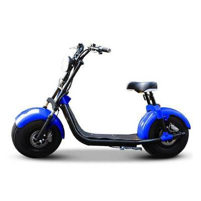 "Dogebos Dogebos Smart Electric E Scooter Harley Pro - 18 ""- 1000W - 12Ah - Blue"