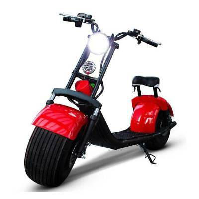 "Dogebos Dogebos Smart Electric E Scooter Harley Pro - 18 ""- 1000W - 12Ah - Red"
