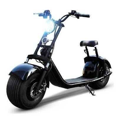 "Dogebos Dogebos Smart Electric E Scooter Harley Pro - 18 ""- 1000W - 20Ah - Black"