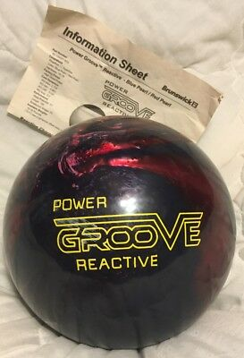 New 11 lb Brunswick Power Groove Reactive Purple & Blue Swirl / FREE SHIPPING