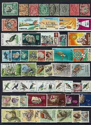 "KENYA ""small collection (x)fu, mlh, mnh - SEASHELLS - MINERALS - BIRDS"" E683b"
