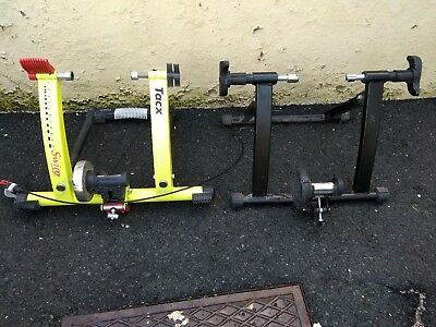 Tacx Cycleforce Swing Cycle Trainer & one other.