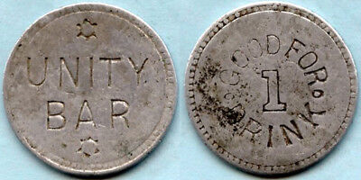 Unity Bar (Goldfield, Nevada) One Drink Token