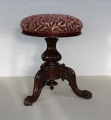 Antique Mahogany William IV Revolving Piano Stool